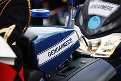 Moto della gendarmeria francese
