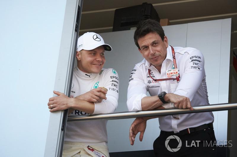 Valtteri Bottas, Toto Wolff, Mercedes AMG F1