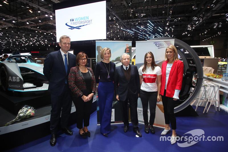 Peter Sørensen, Michèle Mouton, Susie Wolff, Tatiana Calderón, Jean Todt, Nicki Schields