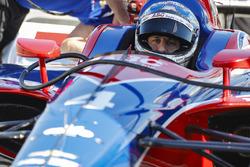 Tony Kanaan im Auto von Matheus Leist, A.J. Foyt Enterprises Chevrolet