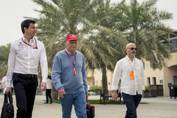 Керівник Mercedes AMG F1 Тото Вольфф, невиконавчий директор Mercedes AMG F1 Нікі Лауда