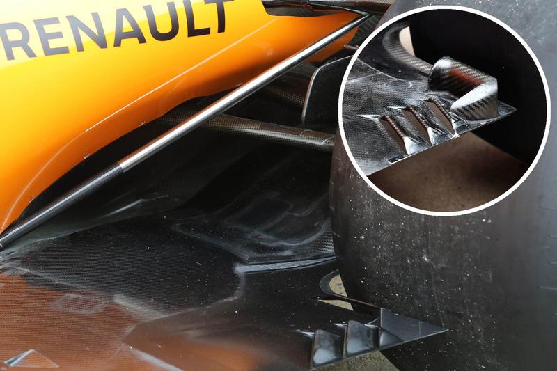 Comparaison des planchers de la McLaren MCL33