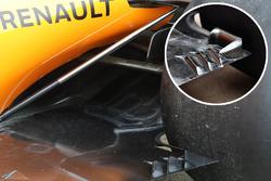 McLaren MCL33, порівняння днищ