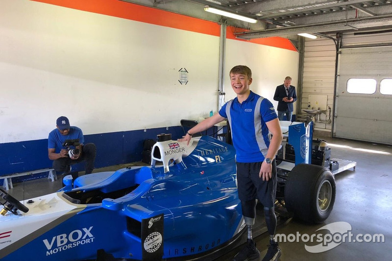 Teste de Billy Monger F1