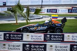 Juan Pablo Montoya driving the Ariel Atom Cup