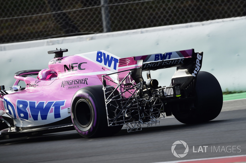 Esteban Ocon, Sahara Force India VJM11, aero sensor