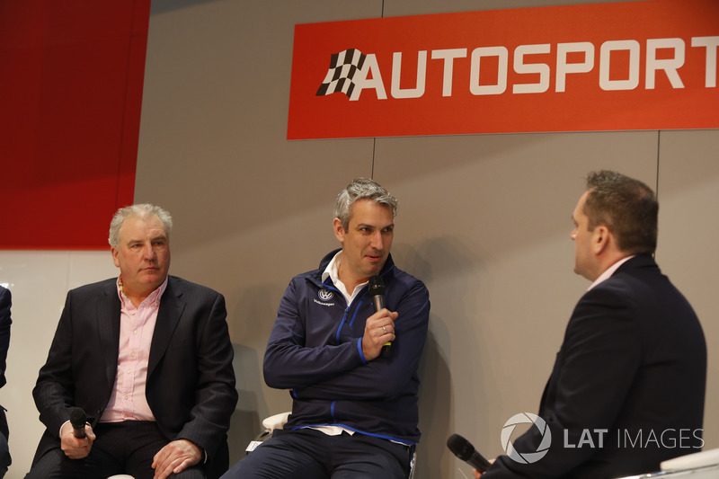 Yves Matton and other WRC guests talk to Henry Hope-Frost on the Autosport Stage