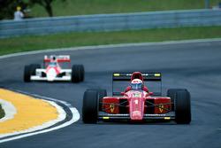 Alain Prost, Ferrari 641; Gerhard Berger, McLaren MP4/5B