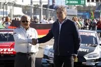 Masaki Bando, voorzitter GTA en Gerhard Berger, ITR voorzitter