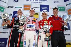 Podium: Race winner Maximilian Günther, Prema Powerteam Dallara F317 - Mercedes-Benz, second place Joel Eriksson, Motopark Dallara F317 - Volkswagen, third place Guan Yu Zhou, Prema Powerteam, Dallara F317 - Mercedes-Benz