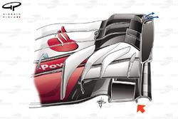 Ferrari SF70H: Frontflügel, GP Mexiko