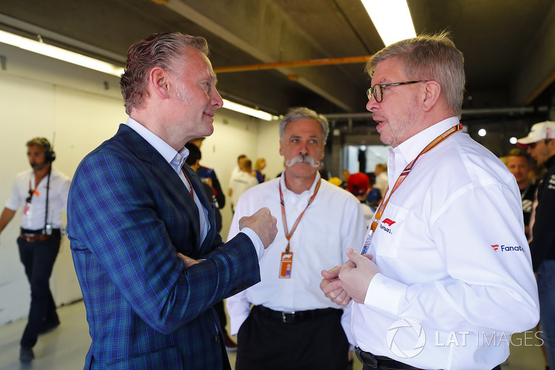Sean Bratches, Chase Carey, Ross Brawn, Formula One Group