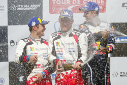 Podium: Winners Sébastien Ogier, Julien Ingrassia, M-Sport Ford WRT Ford Fiesta WRC, second place Ott Tänak, Martin Järveoja, Toyota Gazoo Racing WRT Toyota Yaris WRC