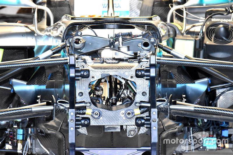 El interior del chasis del Mercedes AMG F1 W09