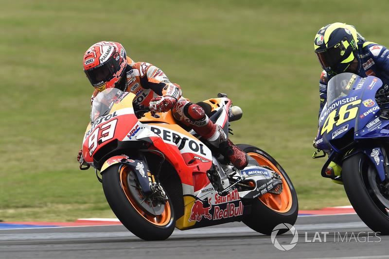 Marc Marquez, Repsol Honda Team, Valentino Rossi, Yamaha Factory Racing crash