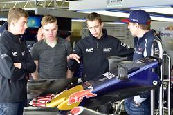Richard Verschoor mit Max Verstappen, Scuderia Toro Rosso