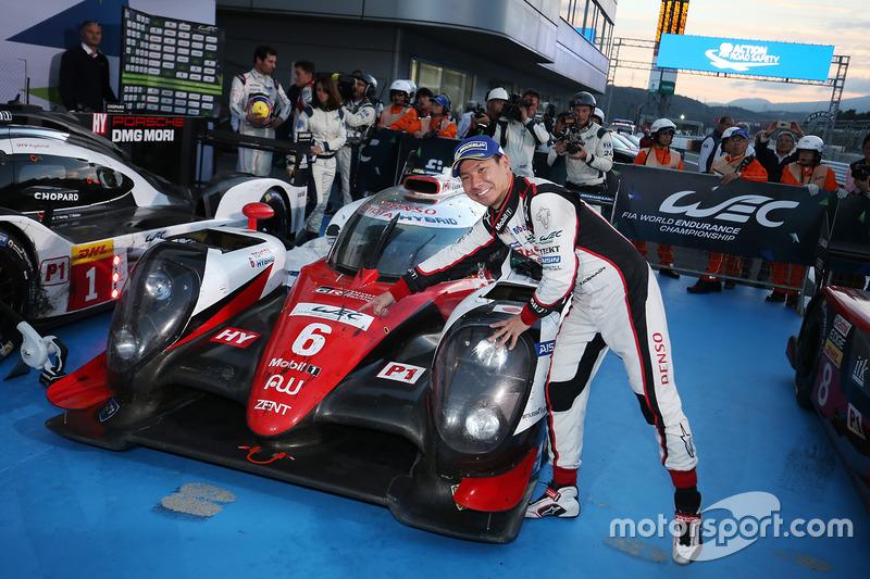 Победитель гонки Камуи Кобаяши, Toyota Racing