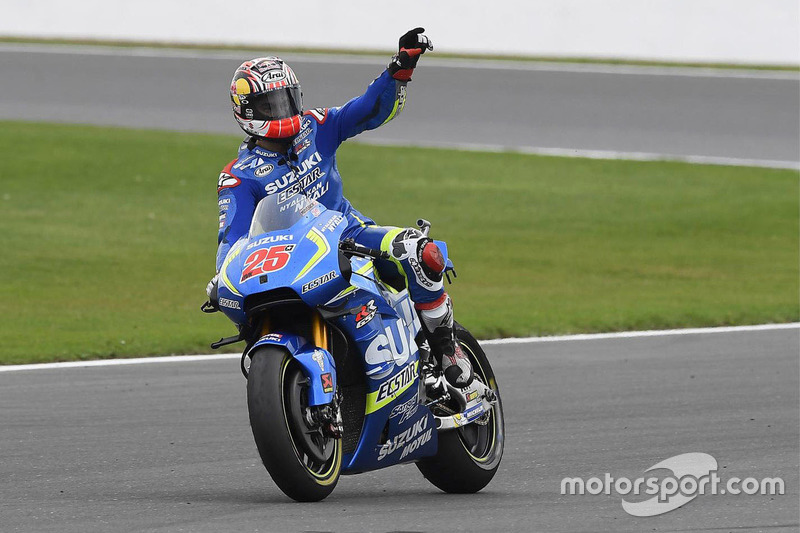 Race winner Maverick Viñales, Team Suzuki MotoGP