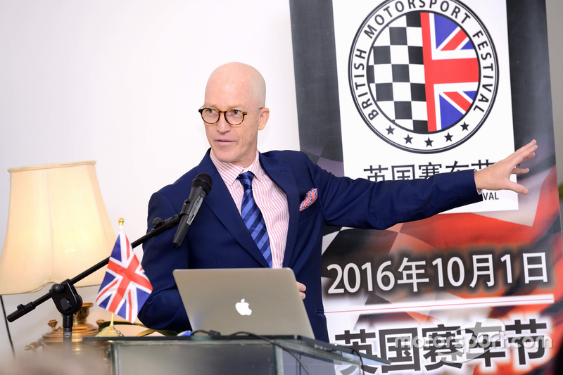 英国赛车节CEO兼创始人金宝(Jim James)先生发言