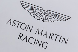 Aston Martin Racing paddock area and logo