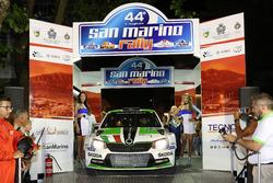 Partenza: Umberto Scandola, Guido d'Amore, Skoda Fabia R5, Skoda Motor Sport Italia