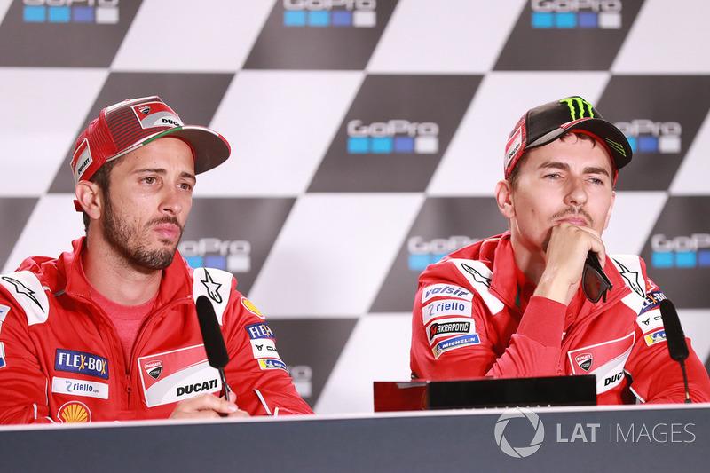Andrea Dovizioso, Jorge Lorenzo, Ducati Team
