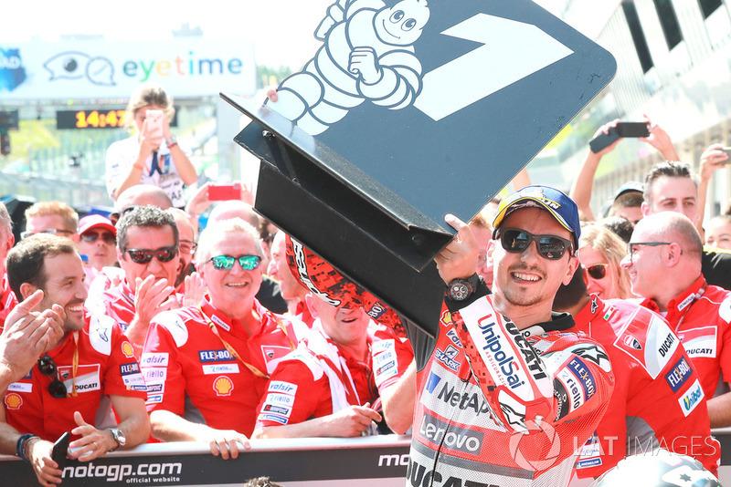 Ganador de la carrera Jorge Lorenzo, Ducati Team