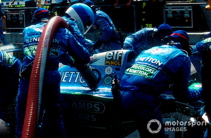 Jos Verstappen's pitstop at the 1994 German GP