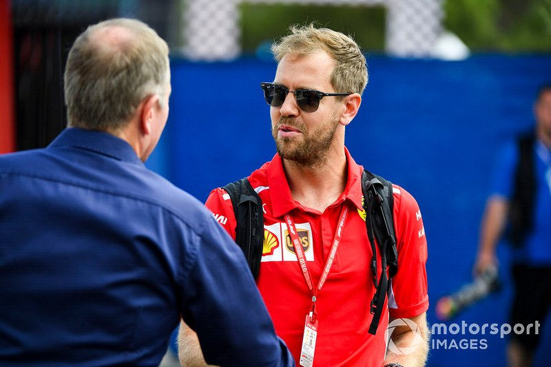 Martin Brundle, Sky TV and Sebastian Vettel, Ferrari