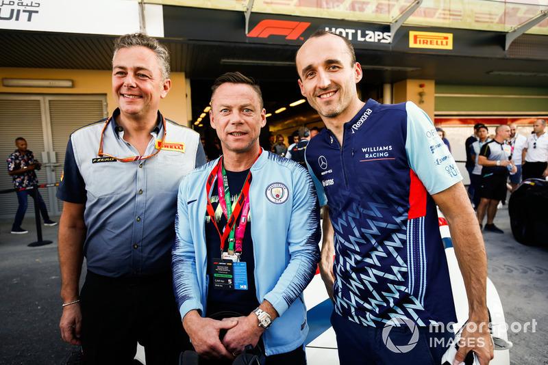 Paul Dickov and Robert Kubica, Williams Racing