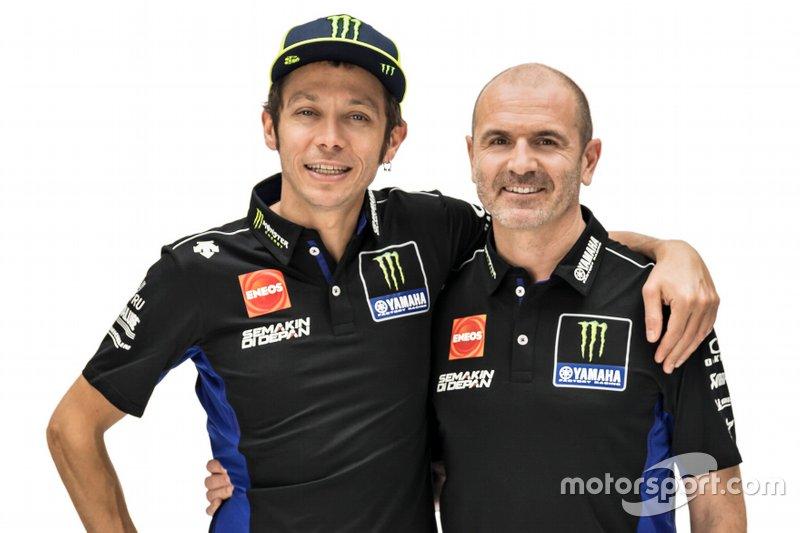 Valentino Rossi, Yamaha Factory Racing, Maio Meregalli, team manager Yamaha Factory Racing