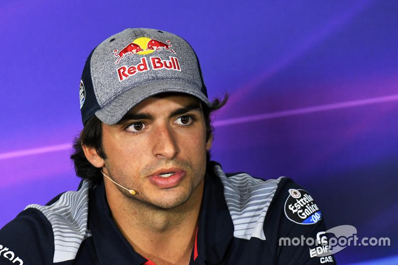 Carlos Sainz Jr., Scuderia Toro Rosso in the Press Conference