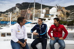Alejandro Agag, Formula E CEO, CEO, Formula E Holdings. ve Sébastien Buemi, Renault e.Dams, Lucas di Grassi, ABT Schaeffler Audi Sport