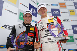 Rookie Podium: Joey Mawson, Van Amersfoort Racing, Dallara F317 - Mercedes-Benz and Mick Schumacher, Prema Powerteam, Dallara F317 - Mercedes-Benz