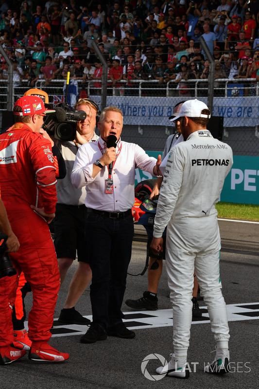 Johnny Herbert, Sky TV  talks, Lewis Hamilton, Mercedes AMG F1 in parc ferme