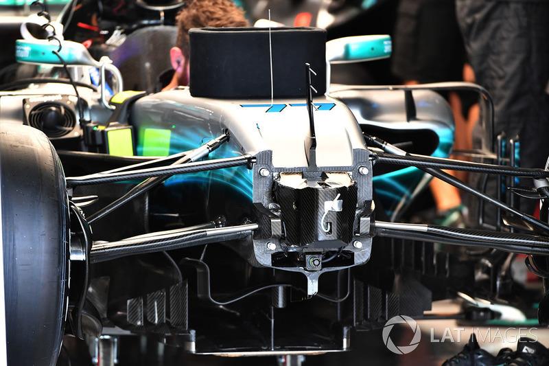 Mercedes F1 W08: Frontpartie ohne Nase