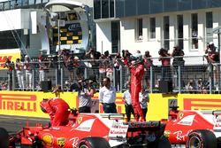 Pole sitter Sebastian Vettel, Ferrari SF70-H