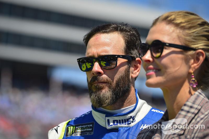 Jimmie Johnson, Hendrick Motorsports, Chevrolet, mit Ehefrau Chandra