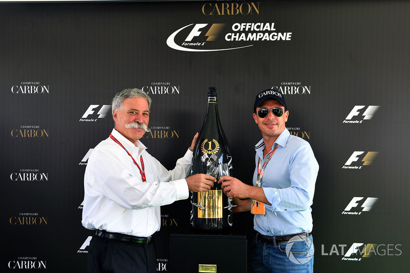 Chase Carey, Chief Executive Officer and Executive Chairman of the Formula One Group and Alex Mea