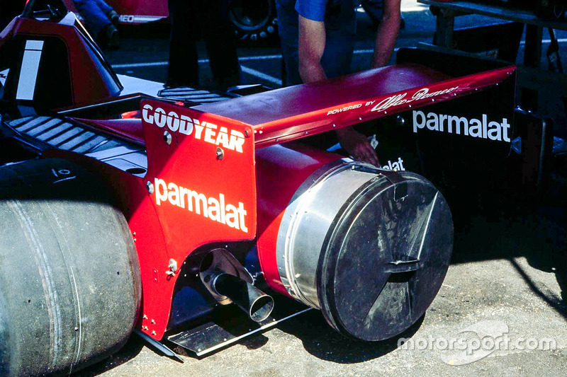 The contraversial Brabham Alfa Fan car made its debut in Anderstorp and was subsequently banned afte