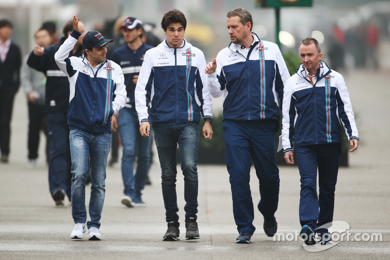 Felipe Massa, Williams, Lance Stroll, Williams, e Paddy Lowe, Williams Formula 1