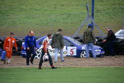 Nigel Mansell, Ford Mondeo, nach Crash