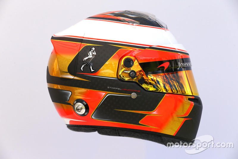 Casco de Stoffel Vandoorne, McLaren