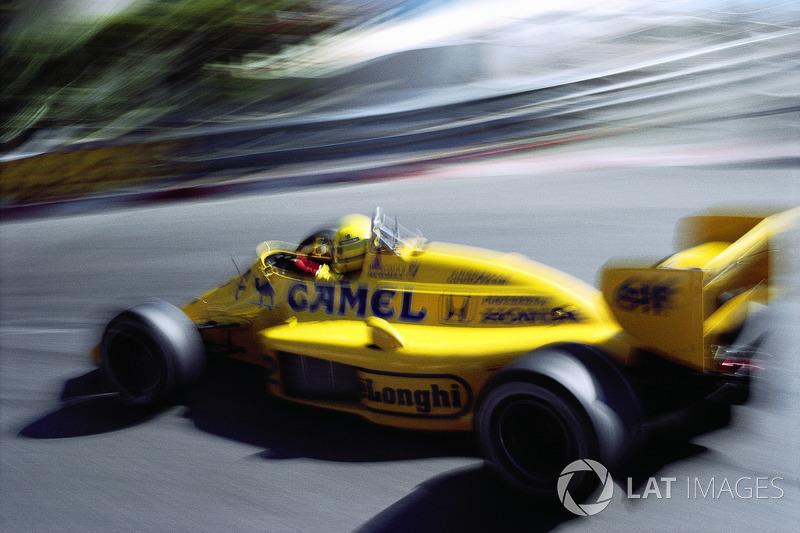 1987年モナコGP:アイルトン・セナ(ロータス・ホンダ99T)