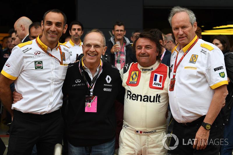 Cyril Abiteboul, Renault Sport F1 director general, René Arnoux, Alex Mea, Jerome Stoll, Director de Renault Sport F1