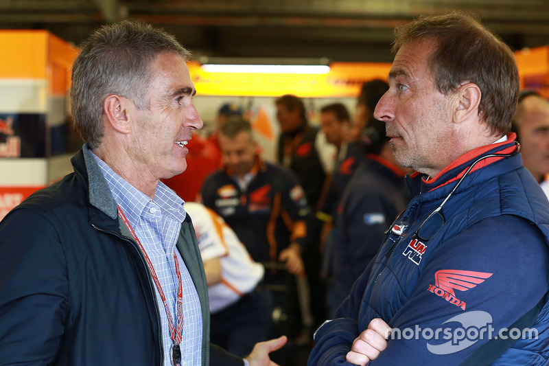 Mike Doohan ve Livio Suppo, Repsol Honda Team Takım Patronu