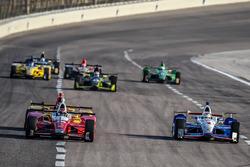 Carlos Muñoz, Andretti Autosport Honda, Helio Castroneves, Team Penske Chevrolet
