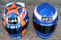 Helmet of Norman Nato, Racing Engineering and Olivier Panis helmet