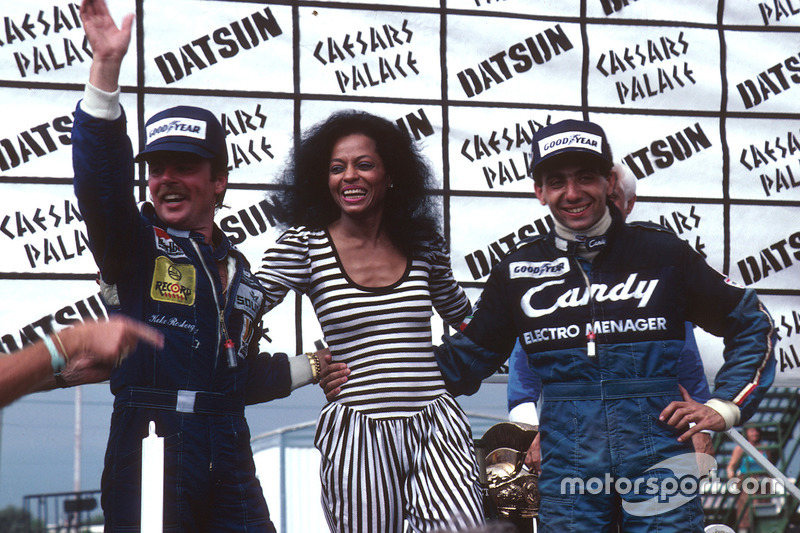 Michele Alboreto, Tyrell Ford,  Keke Rosberg, Williams Ford