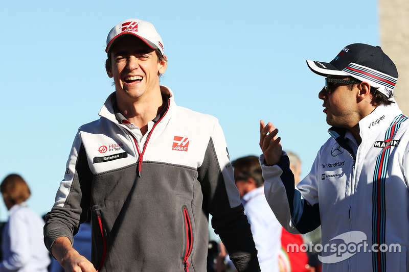 Esteban Gutiérrez, Haas F1 Team con Felipe Massa, Williams